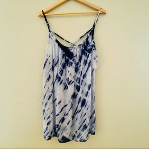 Altar'd State Blue Tie Dye Strappy Low Back Tunic